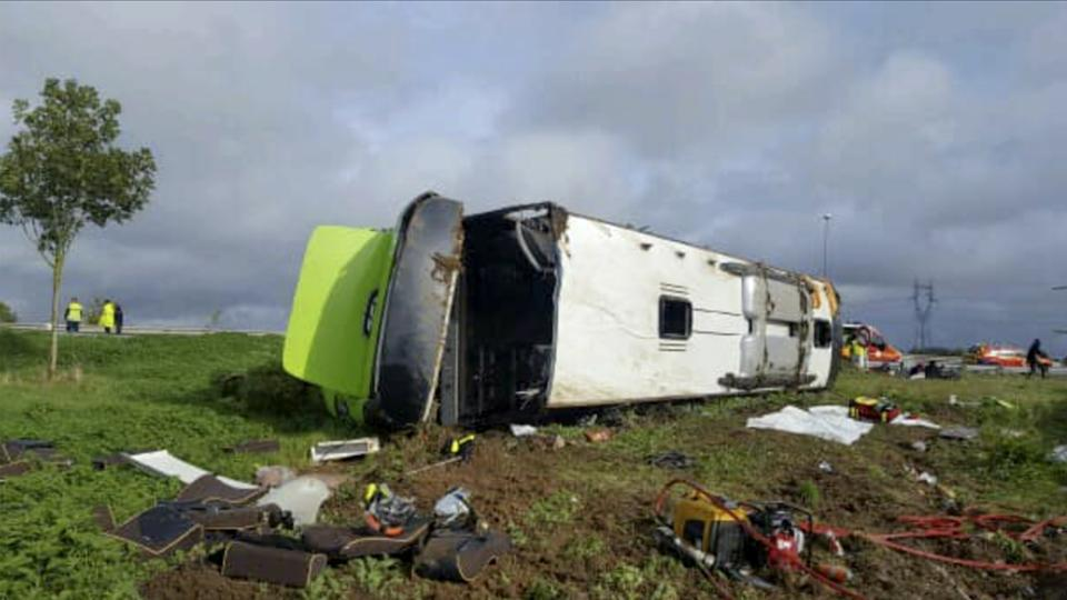 At least 33 injured as bus overturns in France's Somme