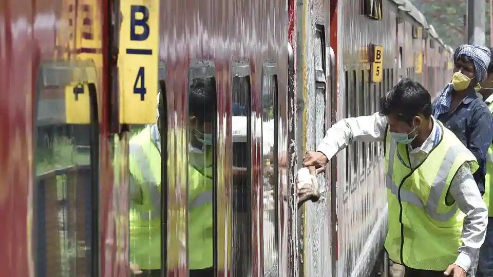 Train services resume today after nearly two months; 54,000 bookings done