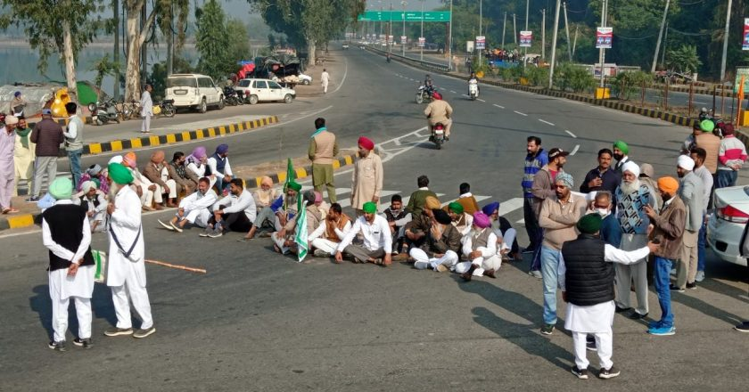 Villagers blocked Jind-Chandigarh highway in support of farmers