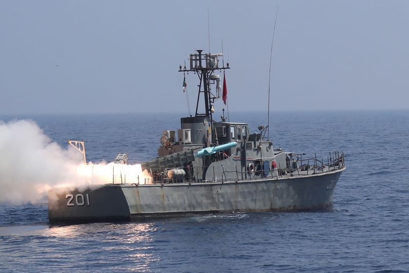 Iran fires long-range missiles into Indian Ocean in military drill