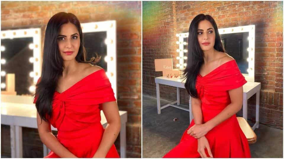 Katrina paints the town red in beautiful off-shoulder dress worth Rs 16k