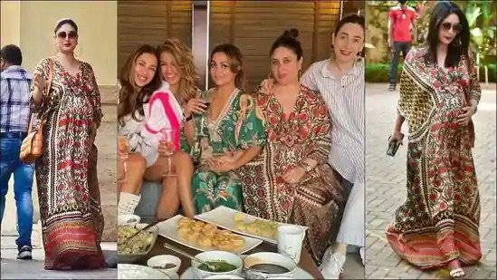 Kareena Kapoor Khan flaunts baby bump, new hairstyle in ₹24k silk kaftan dress
