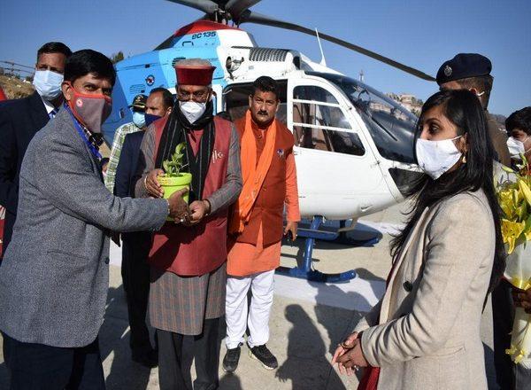 Uttarakhand CM reaches Gairsain for state Assembly session
