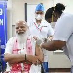PM Modi went to AIIMS and got vaccinated in the morning