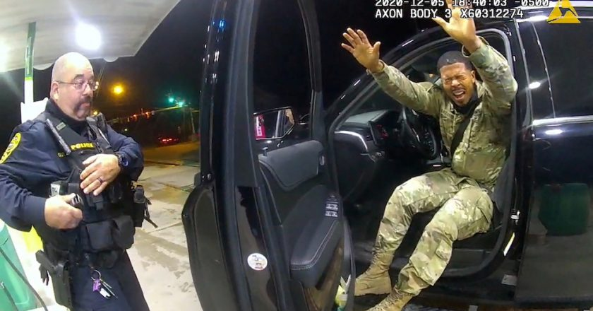 Probe ordered after US police pepper-spray Black soldier