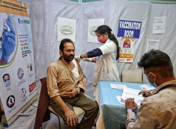 Mukhtar Abbas Naqvi gets second dose of Covid-19 vaccine