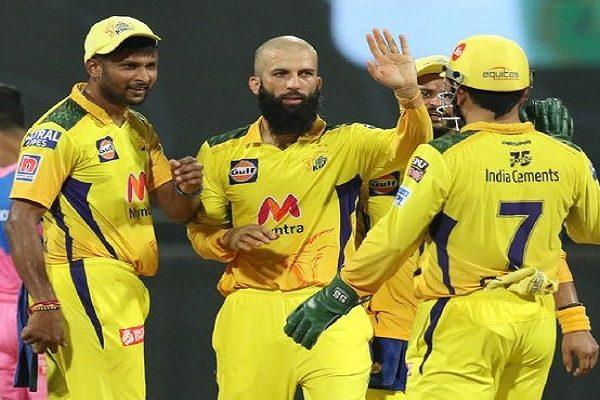 IPL2021-CSK Vs RR:Jadeja, Ali Spin CSK To 45-Run Win Over RR